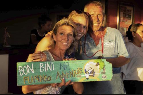 Karin en Hans Flamingo Golf Bonaire